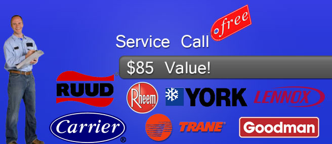 free service call ac repair west palm beach
